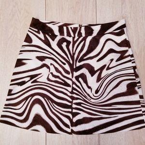 Michael Kors   Mini Animal Print Skirt   Medium